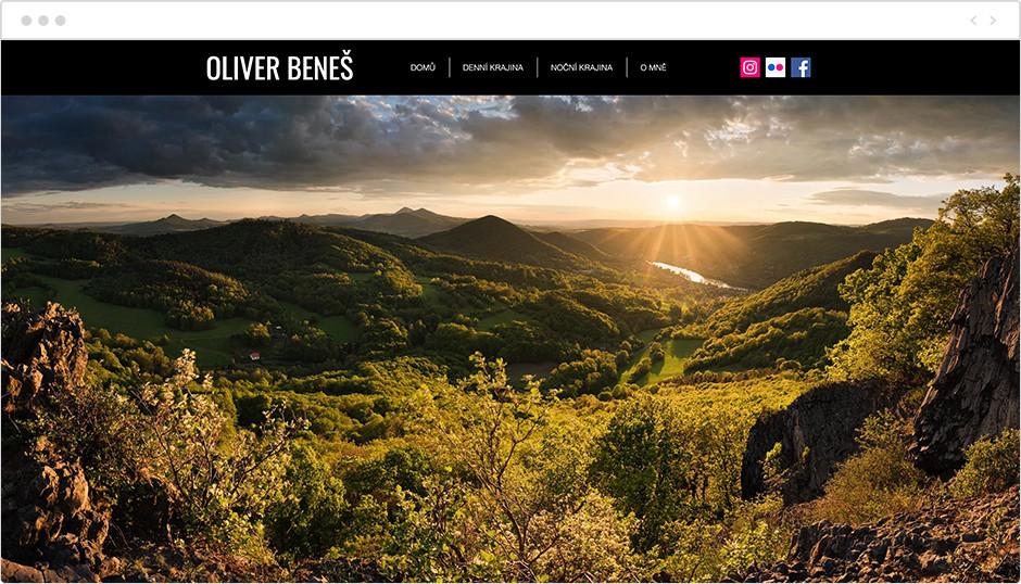 oliver benes landscape photography website