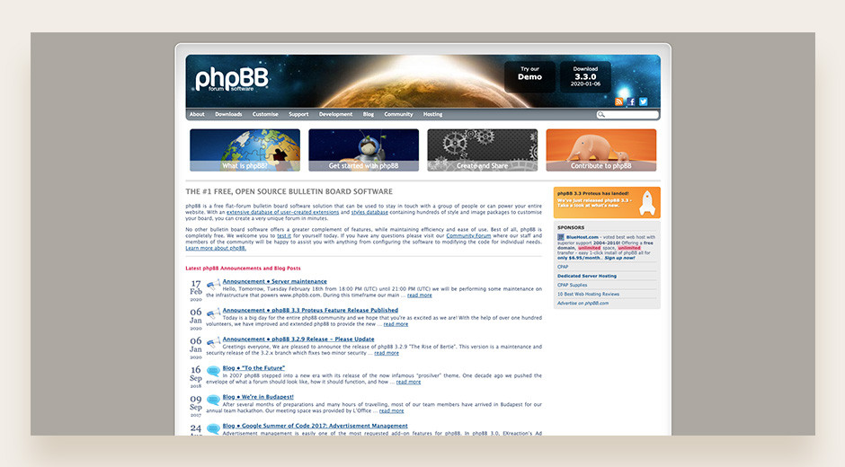 phpBB best open-source forum software