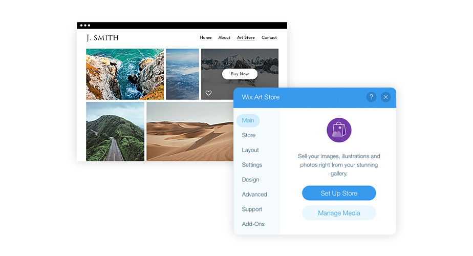 Wix Art Store: Sell your photos online