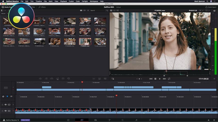 DaVinci Resolve professional color correction free video editing software