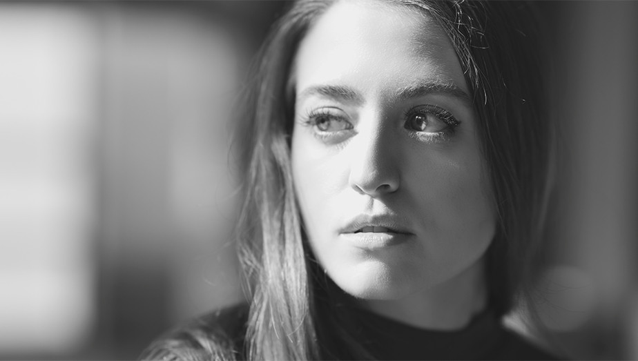 black and white portrait of girl self portrait tips use a soft focus