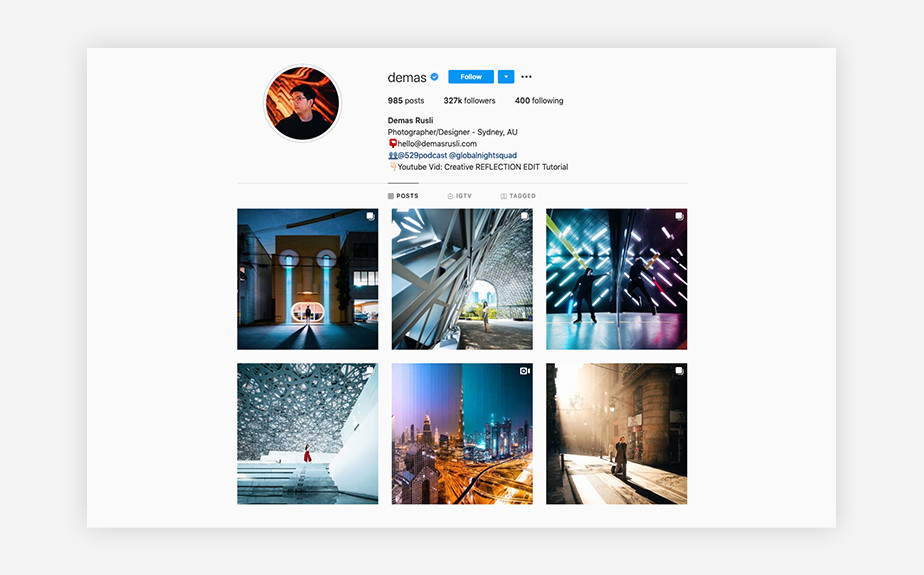 Demas Rusli best Instagram photographers and media creators