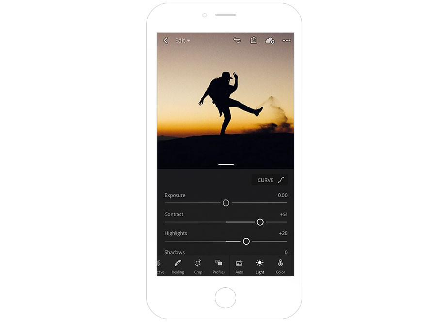 Adobe Lightroom CC mobile photography apps