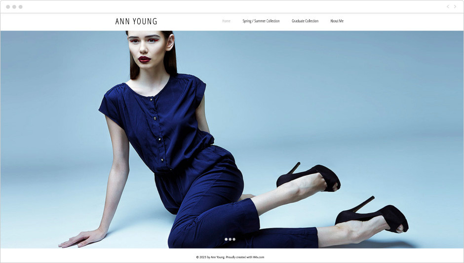 Fashion Portfolio Website Template