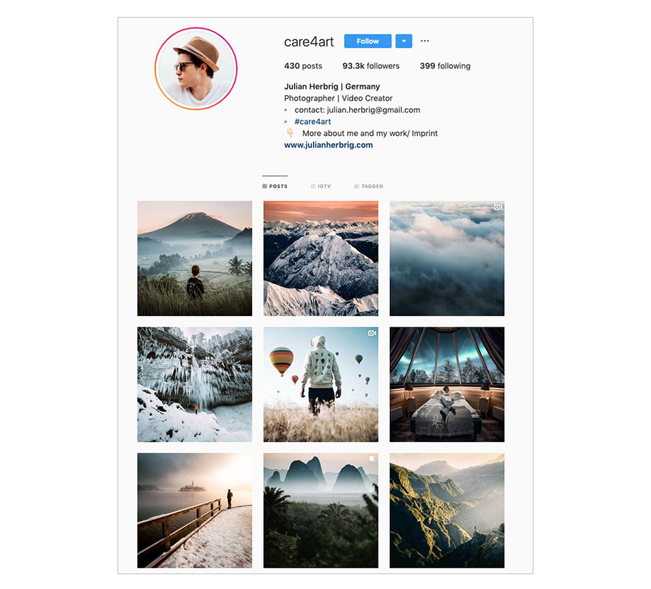 promote your instagram feed