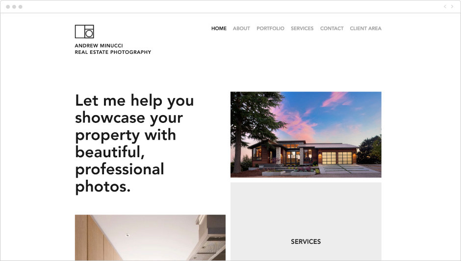 Real Estate Photography Website Template