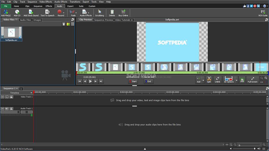 VideoPad free video editor social media