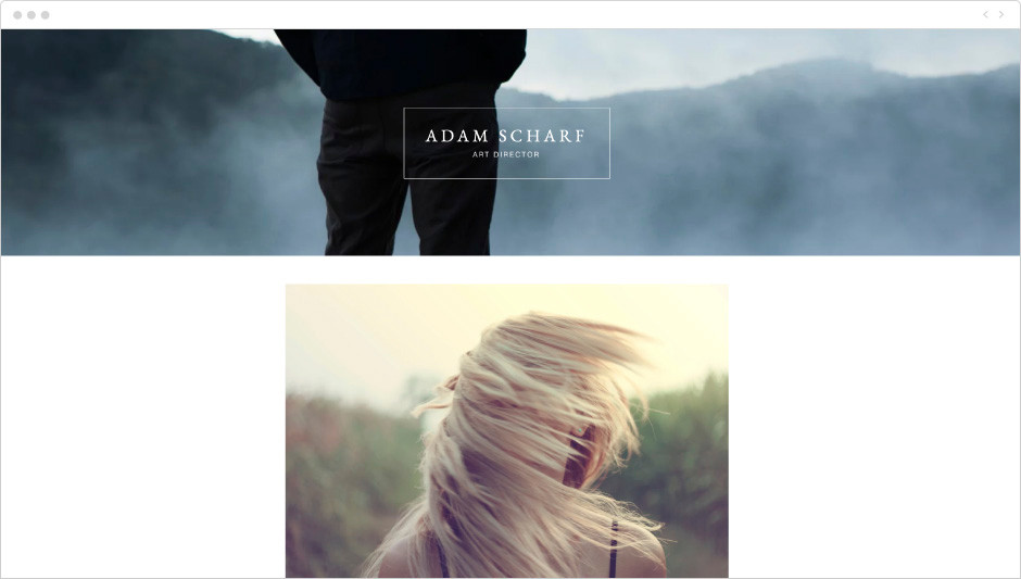 Art Director Portfolio Website Template