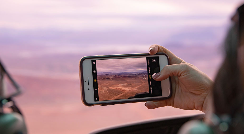 desert smartphone photography rule of thirds