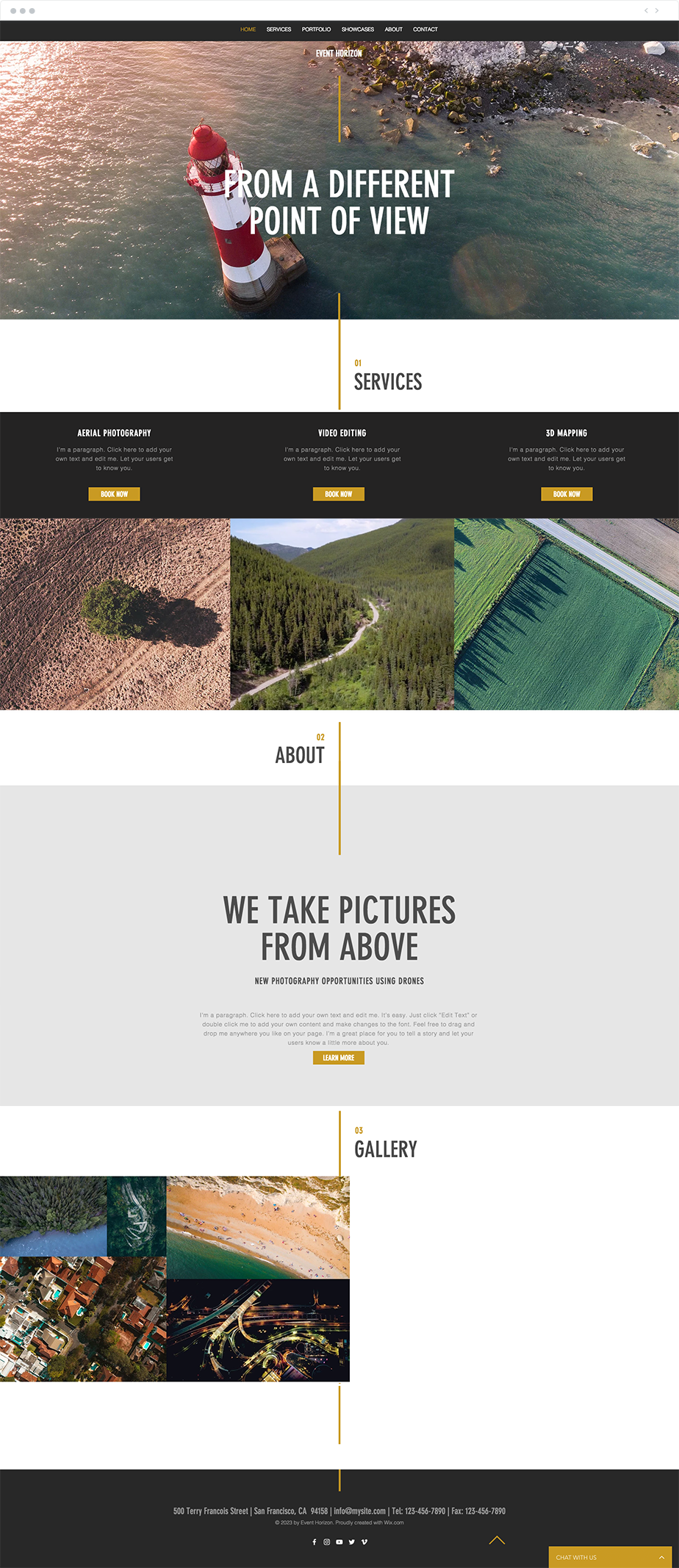 aerial photography website template