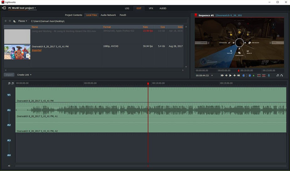 Lightworks best free video editing software