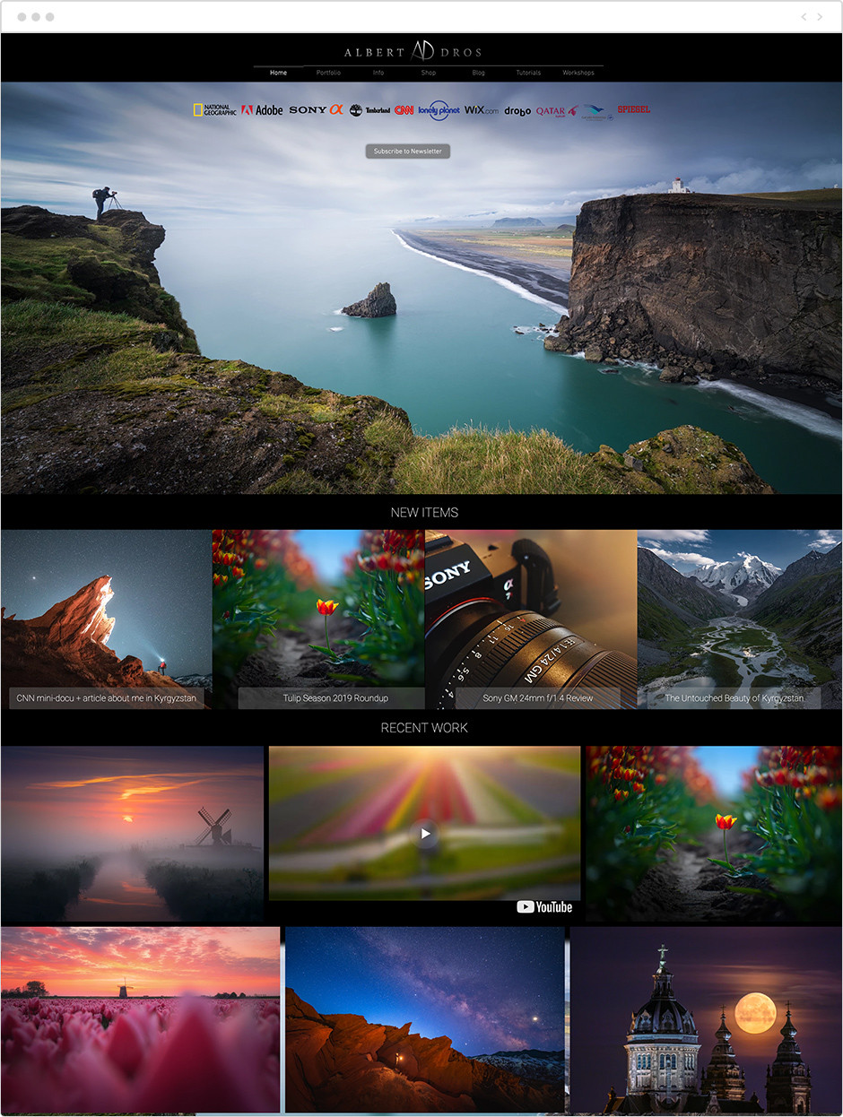 albert dros beautiful landscape photography website