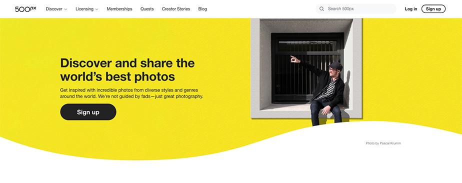 best sites to sell photos online 500px