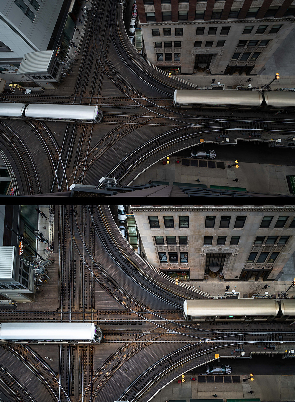 how to edit photos perspective before and after chicago el aerial