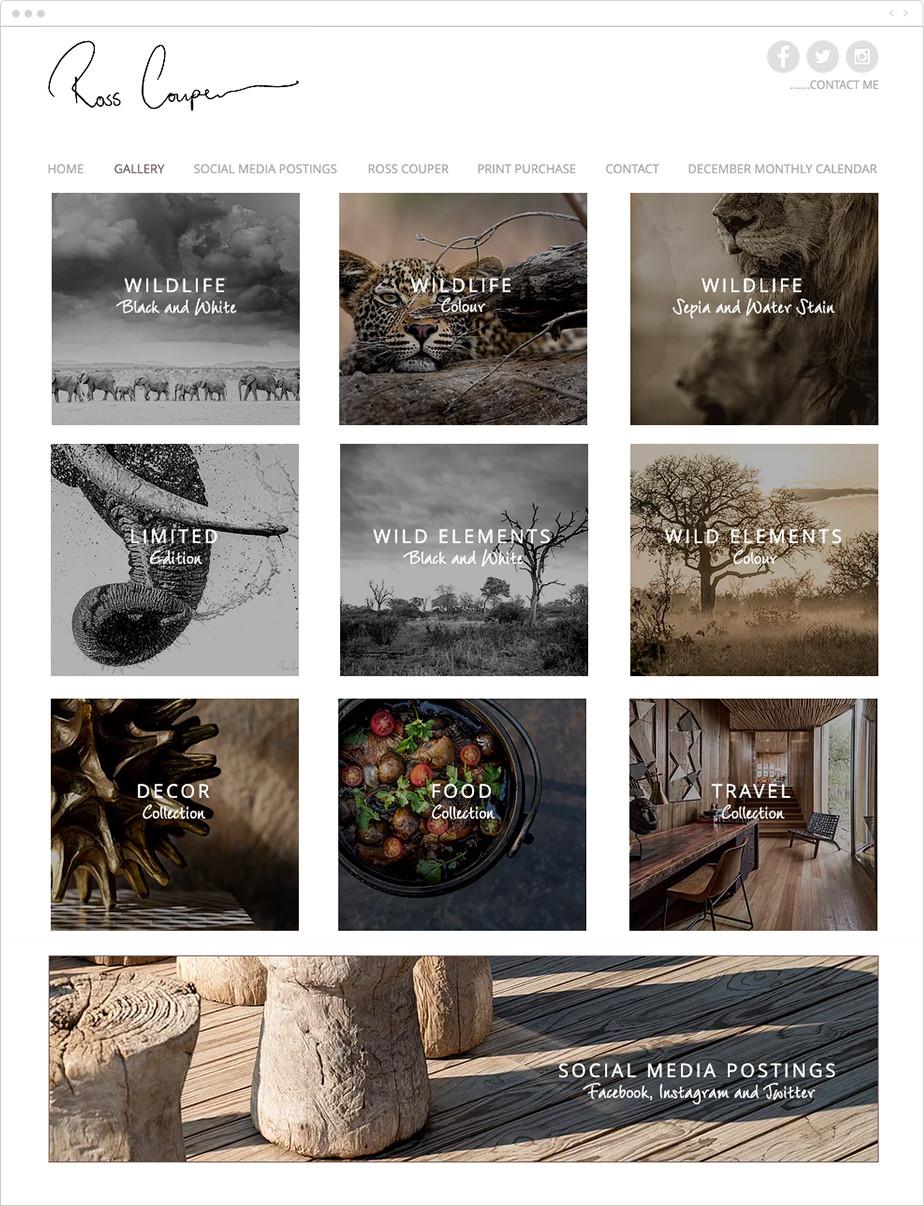 online wildlife photography portfolio galleries