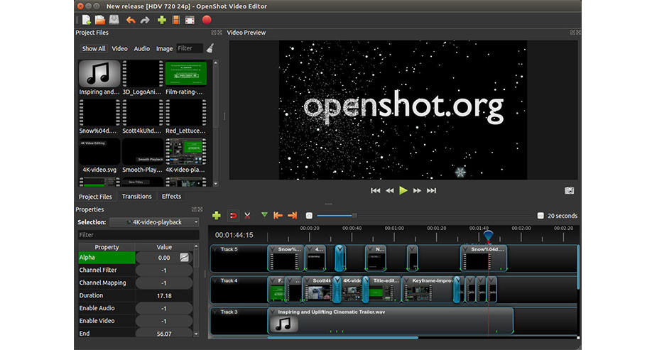 Openshot easy free video editing software