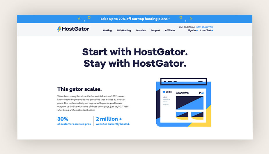 HostGator best place to buy domain name with traditional TLDs