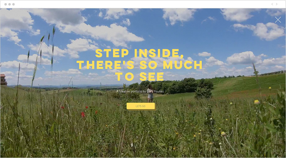 video splash page photography portfolio