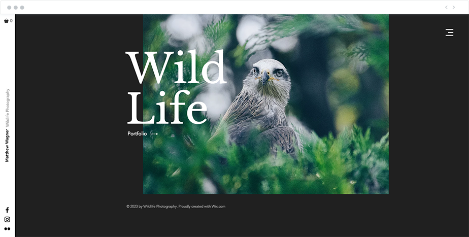 wildlife photography website template
