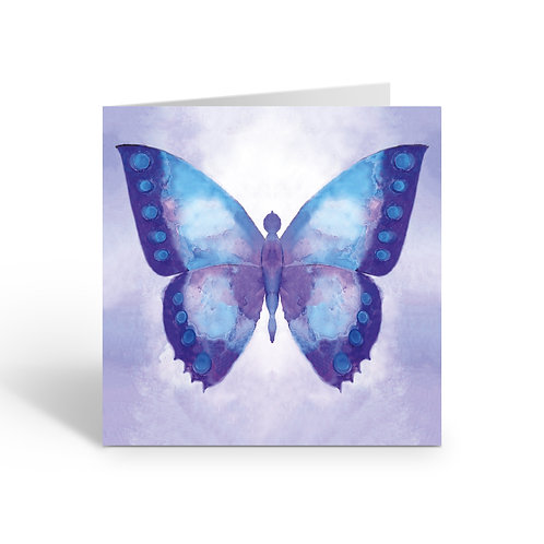 WHOLESALE PACK OF 6 CARDS  Blue Butterfly -J002