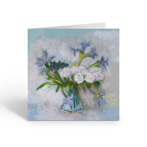 White Roses - card