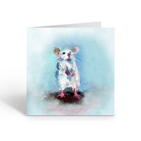White Mouse - card