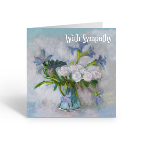 WHOLESALE PACK OF 6 Sympathy / White Roses - Z314