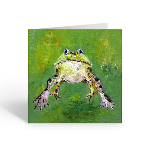 Leaping Frog - card