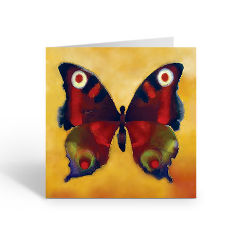 WHOLESALE CARDS PACK OF 6 Red Butterfly - J001