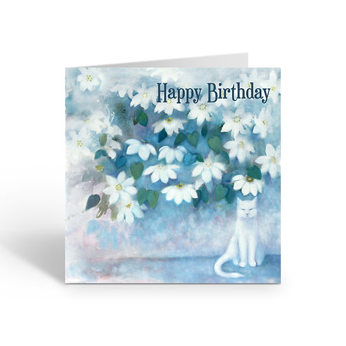 Happy Birthday / Clematis - card