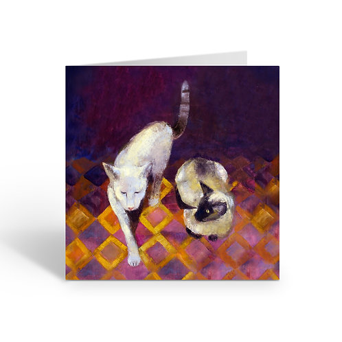 Siamese Cats - card