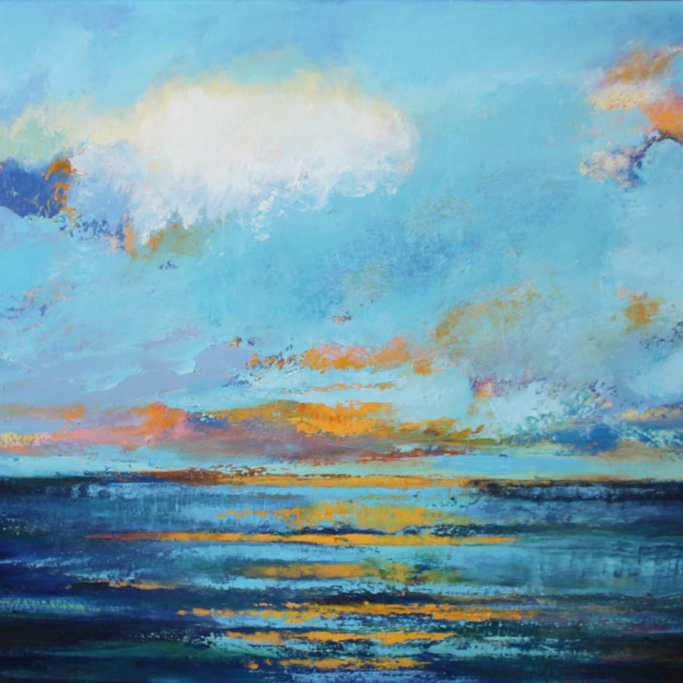 Irish Sea  - Oil on Canvas 80 x 50cm framed £350