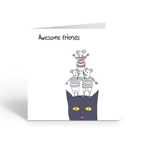 Awesome Friends - card