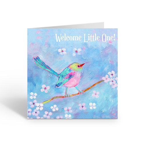 Welcome / Little Finch - card