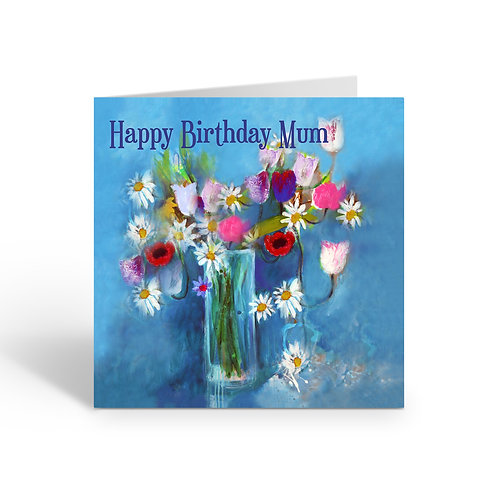 WHOLESALE PACK OF 6 Happy Birthday Mum / Flowers - Z312