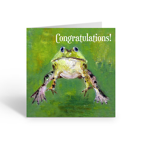 WHOLESALE PACK OF 6 Congratulations / Leaping Frog - Z308