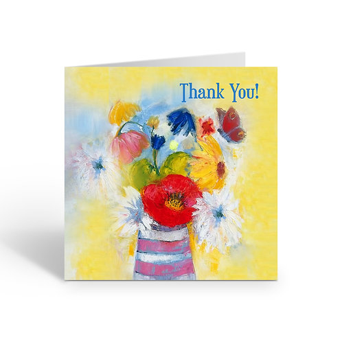 WHOLESALE PACK OF 6 Thank You / Flowers Sunshine - Z313