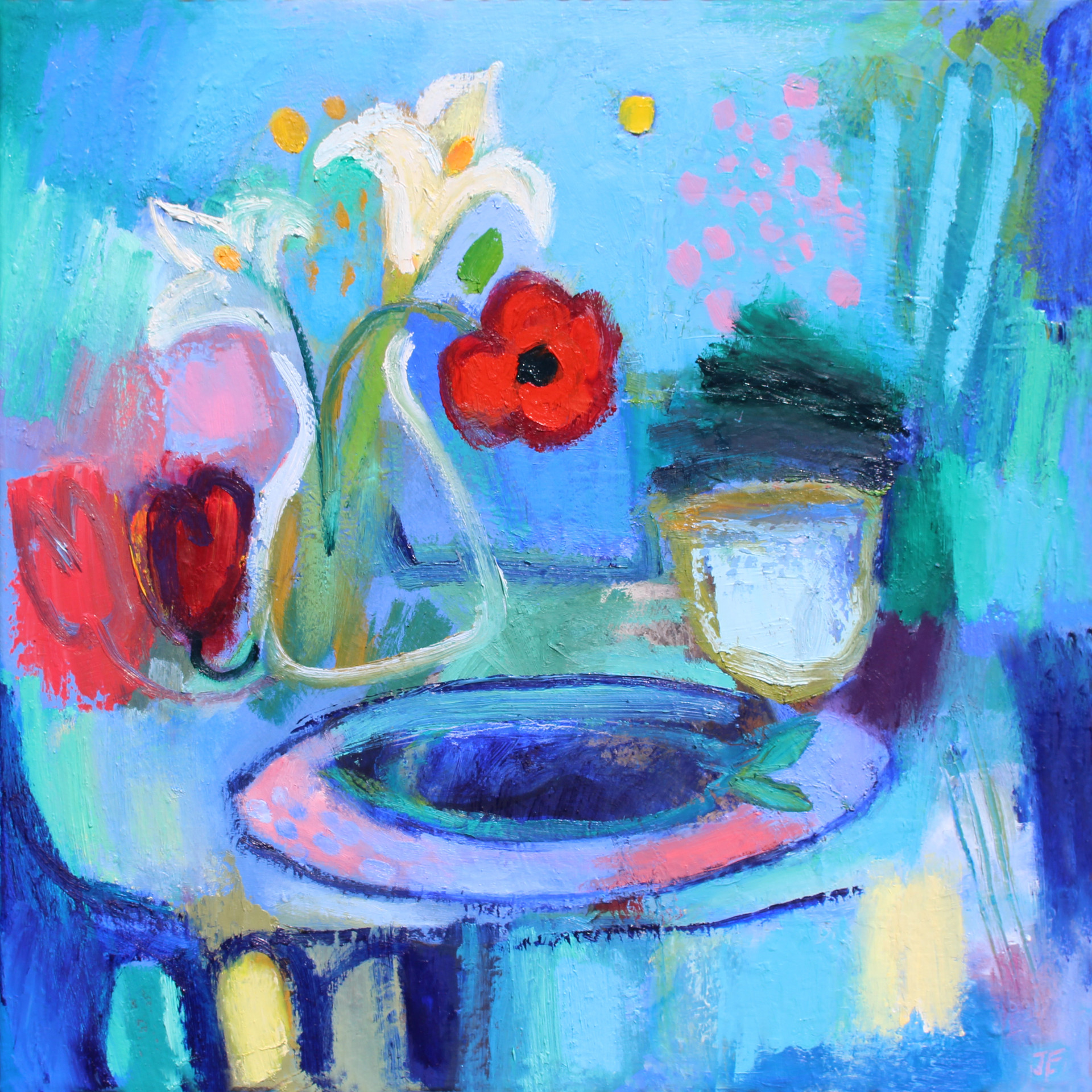 Kitchen table - Oil on Canvas           60 x 60cm         SOLD