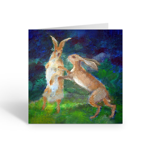 WHOLESALE PACK OF 6 Boxing Hares -W034