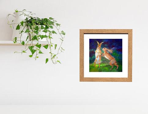 Boxing Hares - print