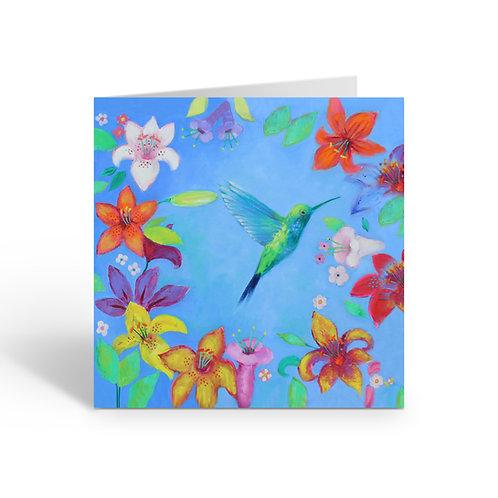 WHOLESALE PACK OF 6 Blue Hummingbird -B051