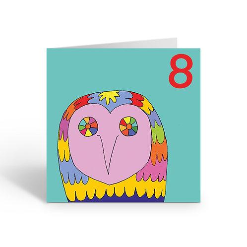 Carnival Owl - card