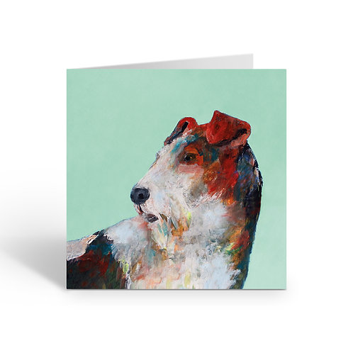Lively Fox Terrier- card