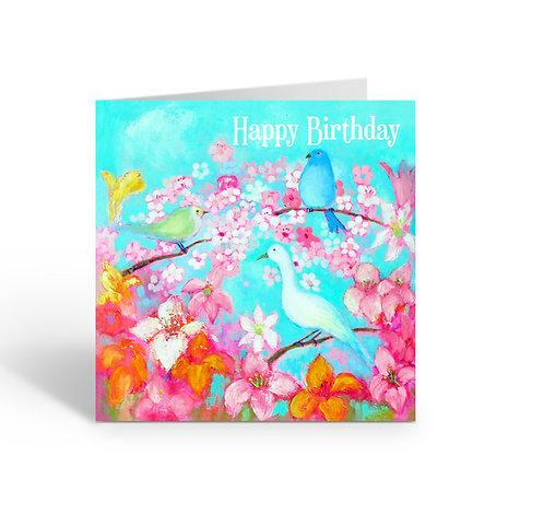 Happy Birthday / Birds - card