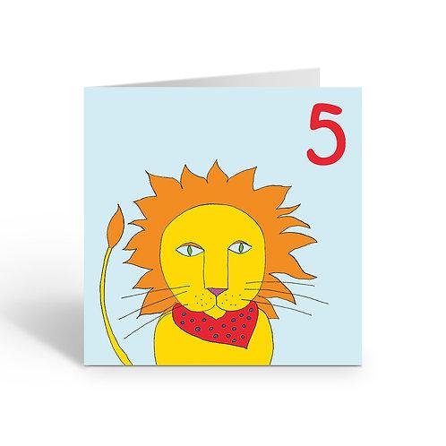 Carnival Lion - card