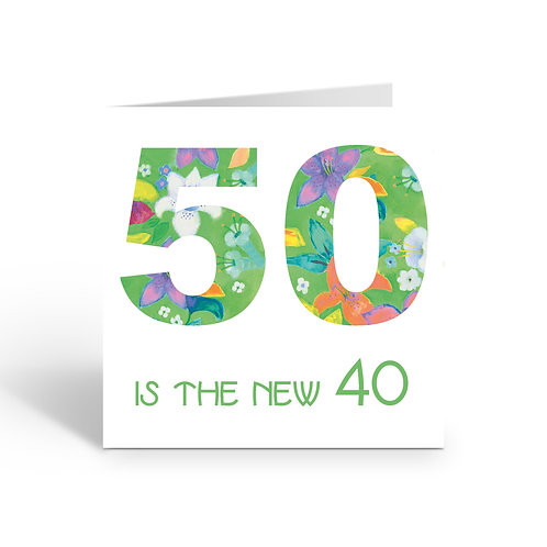 WHOLESALE PACK OF 6 50 is the new 40  - card