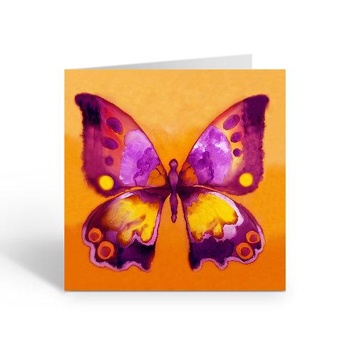 Orange Butterfly - card