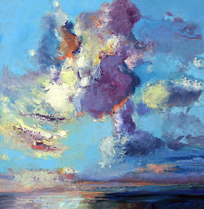 Finisterre - Oil on Canvas              80 x 80cm     framed    £595