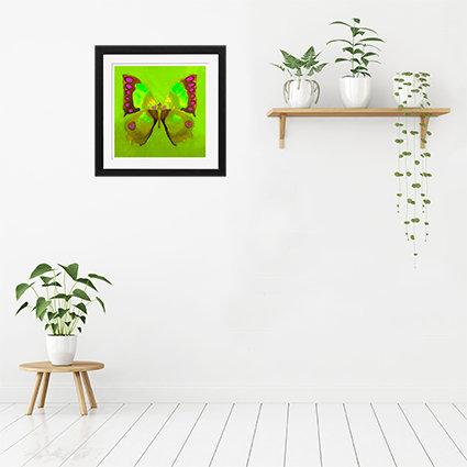 Green Butterfly - print