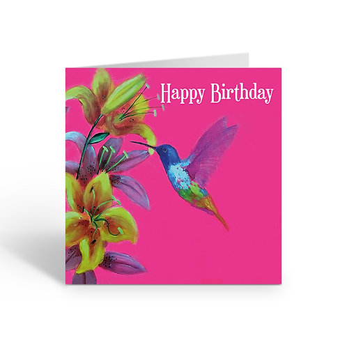Happy Birthday / Hummingbird - card